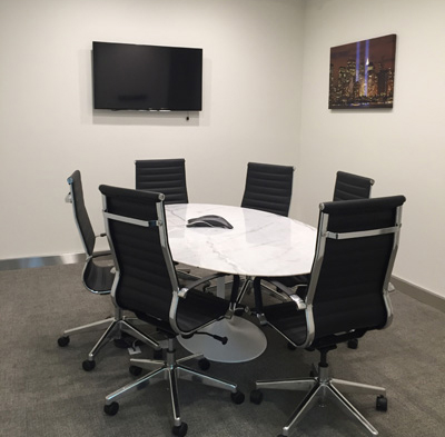 Reserve Conference Room Rental NYC Meeting Space NYC Rental Jay - 6 person conference table