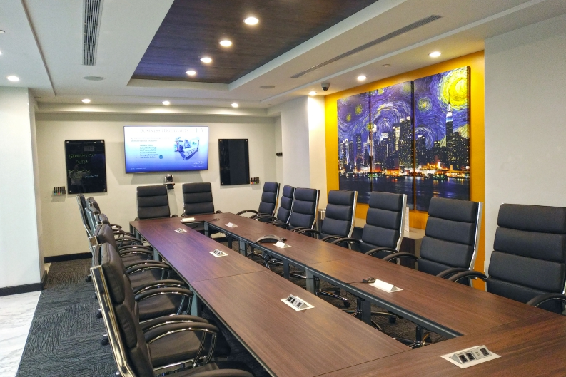Reserve Conference Room Rental NYC Meeting Space NYC Rental Jay - 16 person conference table