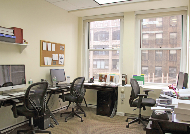 furnished window office