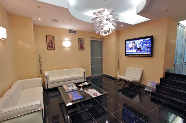 office reception area