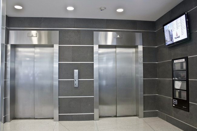New York office space elevators area